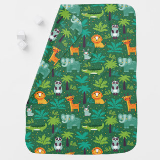 Wild Animals In Jungle Baby Blanket