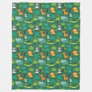 Wild Animals In Jungle Fleece Blanket