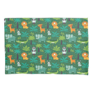 Wild Animals In Jungle Pillowcase