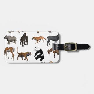 Wild animals luggage tag