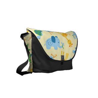 Wild animals messenger bags
