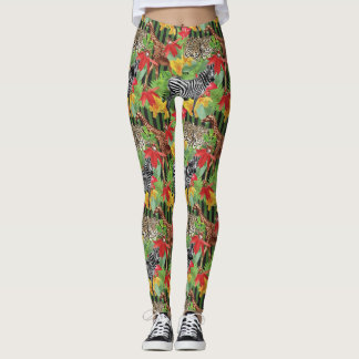 Wild Animals Of Africa Leggings