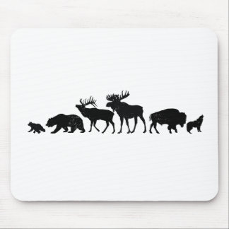Wild Animals of Yellowstone Mouse Pad