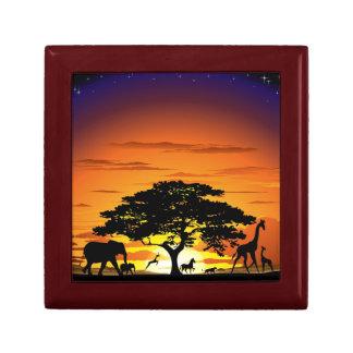 Wild Animals on Savannah Sunset giftbox Gift Boxes