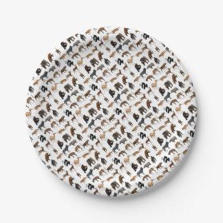 Wild animals paper plate