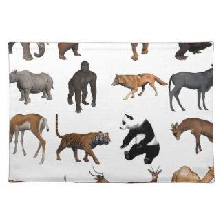 Wild animals placemat