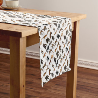 Wild animals short table runner