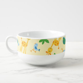 Wild animals soup mug