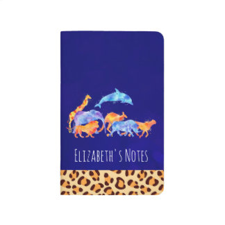 Wild Animals with a Leopard Print Border Journal