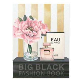 Wild Apple   Big Fashion Book - Striped Postcard