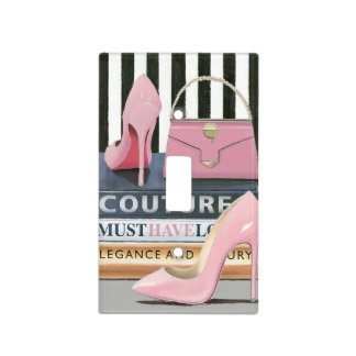 Wild Apple | Couture Stripes - Shoes & Bag Light Switch Cover