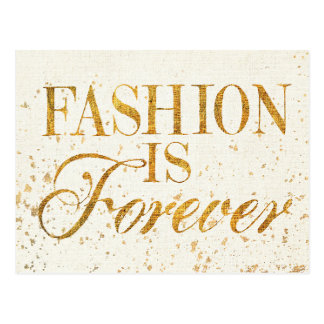Wild Apple   Fashion Is Forever - Girly Quote Postcard