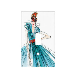 Wild Apple | Haute Couture Fashion Sketch Light Switch Cover