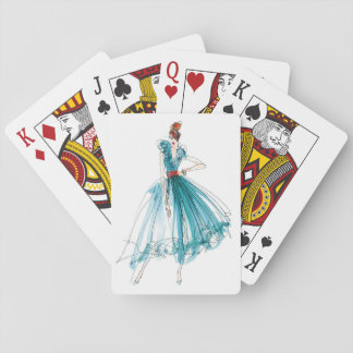 Wild Apple | Haute Couture Fashion Sketch Playing Cards