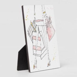 Wild Apple | Modern Pink Fashion Sketch Plaque
