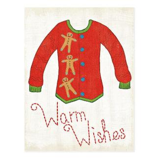 Wild Apple   Warm Wishes - Gingerbread Man Postcard