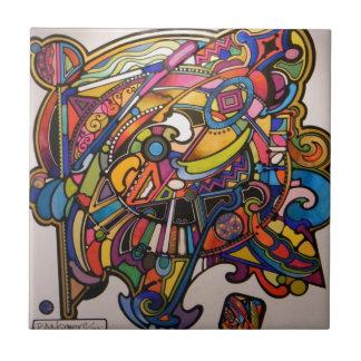 wild art deco vibrant graphic design tile