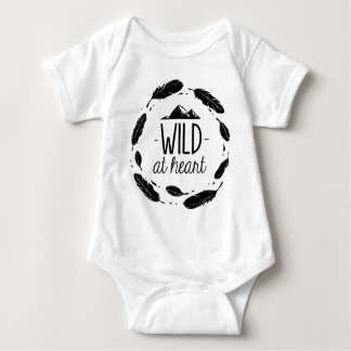 Wild At Heart Bohemian Kid Baby Shirt