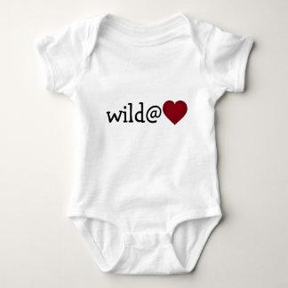 Wild at heart crimson heart baby bodysuit