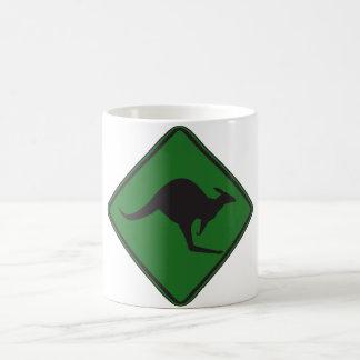 Wild Australian Kangaroo Marsupial Roo Silhouette Mug