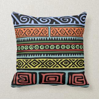 Wild Aztec Patterns Throw Pillow
