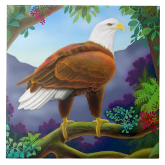 Wild Bald Eagle Tile