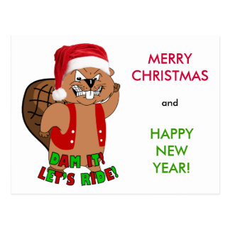 Wild-Beavers Christmas Post Card