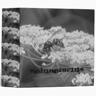 Wild Bee Flower 3 Ring Binder