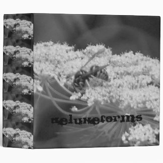 Wild Bee Flower Vinyl Binder