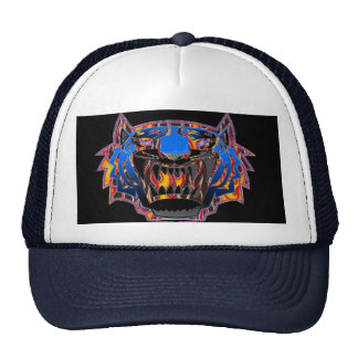 Wild Bengal Tiger In Flames Baseball Hat