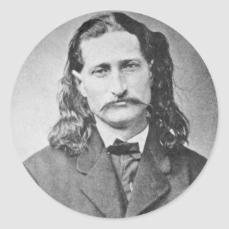 Wild Bill Hickok Lawmen Old West Vintage Photo Classic Round Sticker