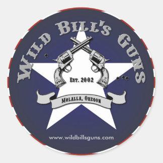 Wild Bill's Guns Patriot Logo Classic Round Sticker
