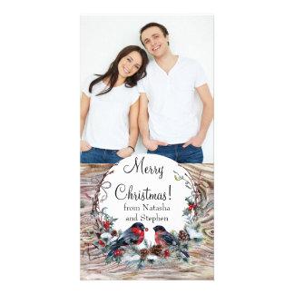 Wild Birds Christmas Photo Card