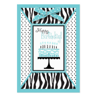 Wild Birthday Cake EB Gift Tag Business Card Templates