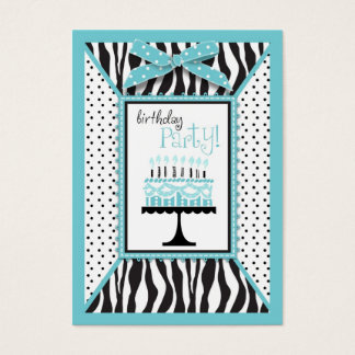 Wild Birthday Cake EB Reminder Card