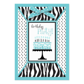 Wild Birthday Cake EB Reminder Card Business Card Template