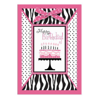 Wild Birthday Cake HP Gift Tag Business Card