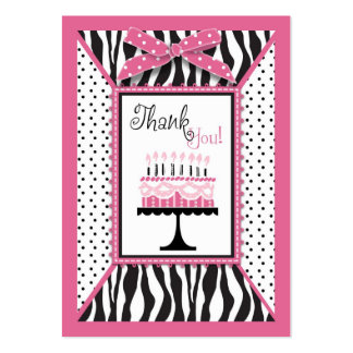 Wild Birthday Cake HP TY Gift Tag Large Business Card