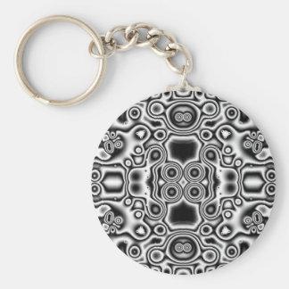 Wild Black and white Keychain