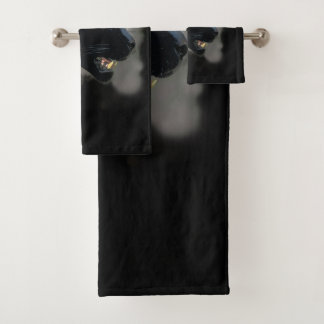 Wild Black Jaguar Bath Towel Set
