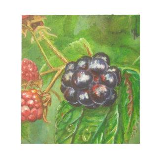 Wild Blackberries ripening in Summer Notepad