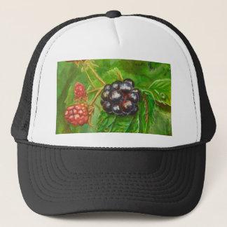 Wild Blackberries ripening in Summer Trucker Hat