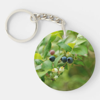 Wild Blueberries Single-Sided Round Acrylic Keychain