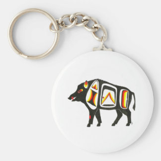 Wild boar 001 keychain