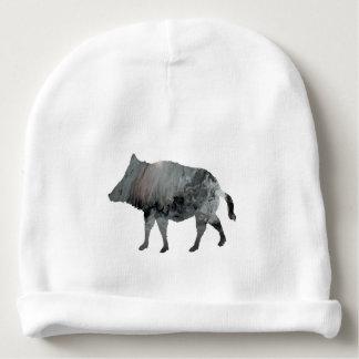 Wild boar baby beanie