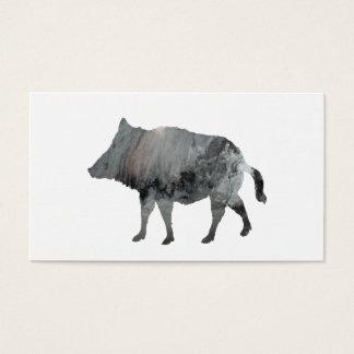 Wild boar business card