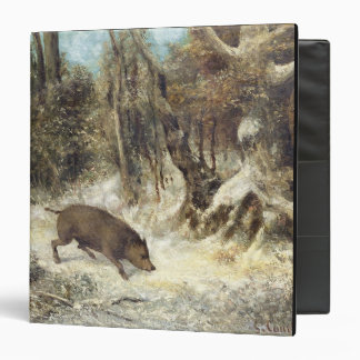 Wild Boar in the Snow, signed as Courbet (fake) Vinyl Binder