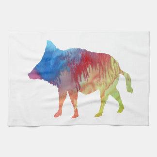 Wild boar kitchen towel