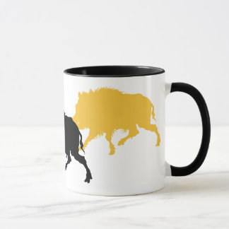 Wild Boar on the Run - Antique German Print Mug