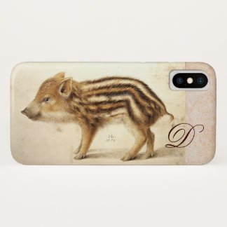 WILD BOAR PIGLET Animal Drawing Monogram Case-Mate iPhone Case